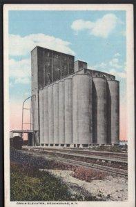 New York OGENSBURG Grain Elevator - White Border