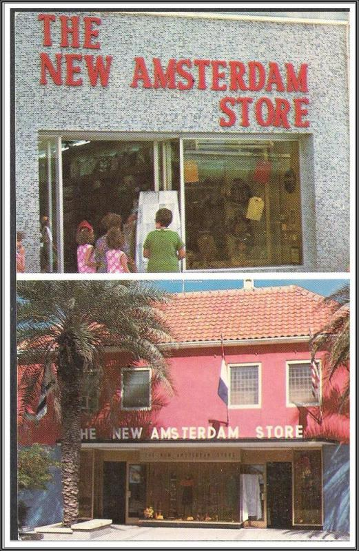 Curacao The New Amsterdan Store Postcard