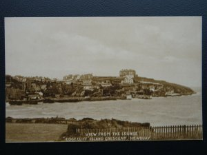 Cornwall NEWQUAY 'EDGECLIFF' Island Crescent LOUNG VIEW - Old Postcard