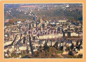 Modern Postcard Dinan (Cotes d'Armor) General view of downtown