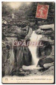Old Postcard Cascade Jarreaux near Bourganeuf Creuse