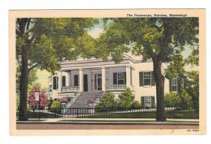 MS Natchez Mississippi The Parsonage Mansion Vintage 1950s Postcard