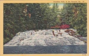 Pennsylvania Paradise Falls In The Poconos Curteich