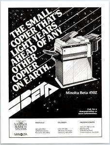 1984 Minolta Beta 450z Copier Print Ad N1