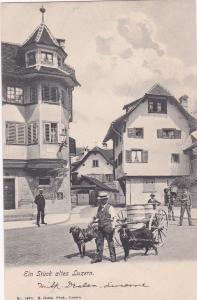 Ein Stuck altes LUZERN , Switzerland , 1901-07 ; Dog cart