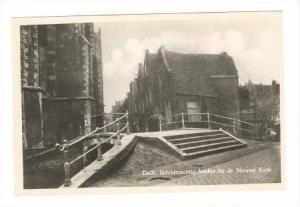 RP  Delft, Netherlands, Schilderachtig hoekje bij de Nieuwe Kerk, 20-40s