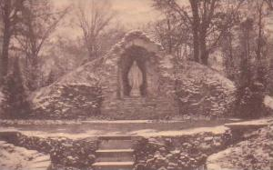 Illinois Springfield The Grotto Of Our Lady Which Graces The Cloistered Garde...