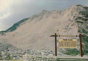 Canada Alberta Frank Rock Slide From Turtle Mountain