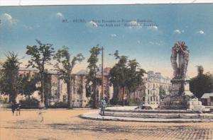 Roman Arch and Bartholdi Fountain, Reims (Marne), France, 1900-1910s