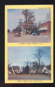 DECATUR ALABAMA ALL STATES COTTAGES RESTAURANT VINTAGE ADVERTISING POSTCARD