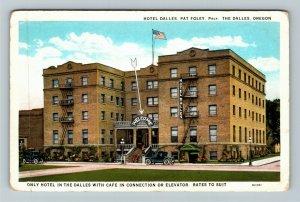 The Dalles OR-Oregon, Hotel Dalles, Vintage Postcard
