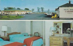 2-views,  White House Motel & Cabins,  Beauport,  Quebec,  Canada,  PU_40-60s