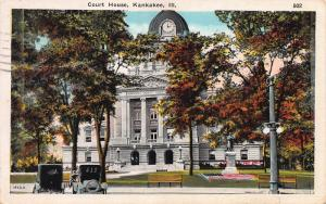Court House, Kankakee, Illinois, Early Postcard, Used in 1930