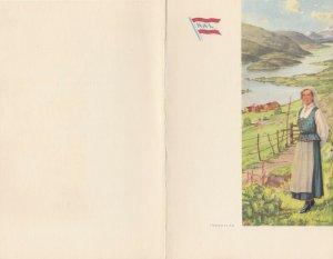 Norwegian American Lines, 1968; S.S. STAVANGERFJORD Lunch Menu