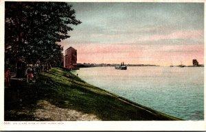 Michigan Port Huron Scene Along Ste Claire River Detroit Publishing