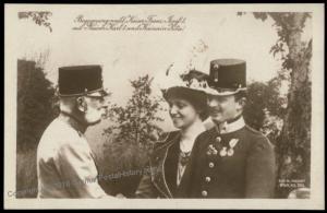 Austria WWI Kaiser Karl Franz Joseph Successor  RPPC 65700