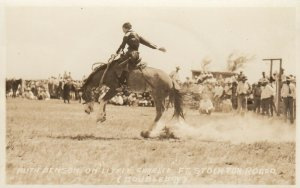 RP: FEMALE RODEO ; FT STOCKTON , TEXAS , 1930 ; RUTH BENSON