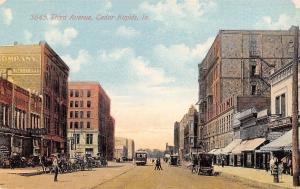 Cedar Rapids Iowa~Overland-Doty Auto Co~Kramer & Son~US Navy Store c1908