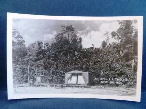 Postcard New Guinea Grogan RPPC Real Photo WW2 Open Air Theater New Guinea