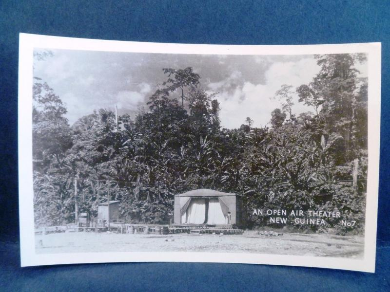 Postcard New Guinea Grogan RPPC Real Photo WW2 Open Air Theater New Guinea