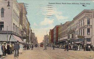 Summit Street North From Jefferson Toledo Ohio 1914