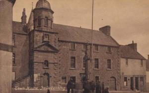 Inverkeithing Town House Scotland Scottish Antique Real Photo WW1 War Postcard