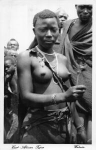 East African Types Wahutu Rwanda Burundi real photo Postcard