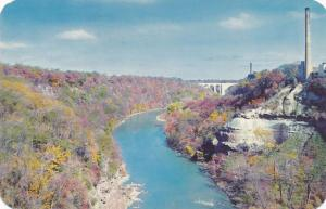 Autumn Scene along Genesee River Gorge - Rochester, New York