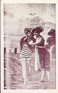 Two Women in Old Style Bathing Suits