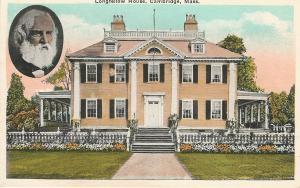Longfellow House, Cambridge, Massachusetts, Early Postcard, unused