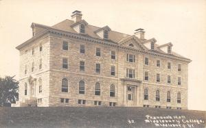 Middlebury Vermont~Brand New Pearson's Hall~Real Photo Postcard~RPPC c1914