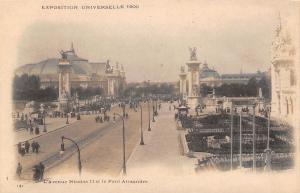 Paris France~Exposition Universelle 1900~L'Avenue Nicolas II~Pont Alexandre