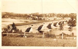 Hartland New Brunswick Canada Covered Bridge Real Photo Antique Postcard K79201
