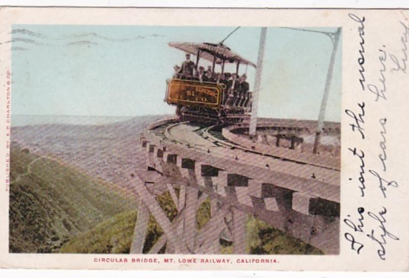 California Mt Lowe Railway Circular Bridge 1906