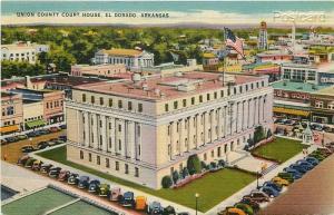 AR, Eldorado, Arkansas, Union County Court House, Colourpicture No. 15489