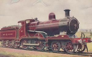 NSR North Stafford Railway 4-4-0 No 86 JH Adams Stoke Train Old Postcard