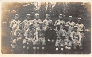 H3/ Orchard Lake Michigan RPPC Postcard c1910 Baseball Team Uniforms