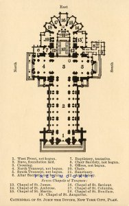 1926 New York City PC: Detailed Interior Plans, Cathedral of St. John The Divine