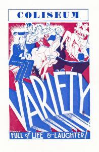 London Coliseum Variety Show Theatre Poster Postcard