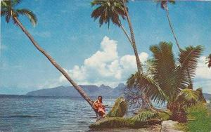 Tahitian Singer On The Beach, Tahiti, PU-1964