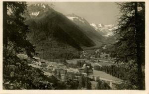 Switzerland -  Pontresina mit Rosegtal - RPPC