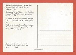 MAXI CARD – SWEDEN – 1981 – SWEDISH FILMS