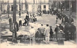 Old Vintage Lawn Bowling Postcard Post Card Le Jeu de Boules real photo 1910