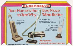 AD: ELECTROLUX Vaccum Cleaners , 50-60s