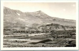 Paonia, Colorado RPPC Photo Postcard MT LAMBORN & LAND'S END Walker Art Studios