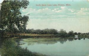 Waseca Minnesota~Loon Lake~Tree Hangs Over North Shore Cove~1912 Postcard