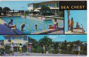 Florida St Petersburg Sea Chest Apartment Hotel Treasure Island 1961
