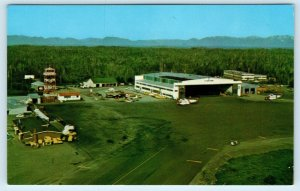 ANNETTE ISLAND, AK Alaska  View of AIRPORT c1960s Mike Roberts  Postcard