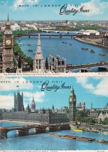 When In London Visit Quality Inns 2x Advertising Postcard s