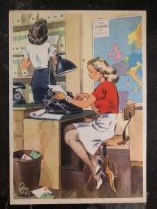 Mint WW2 Postcard Germany Army Women at War Series Working the stenotypist